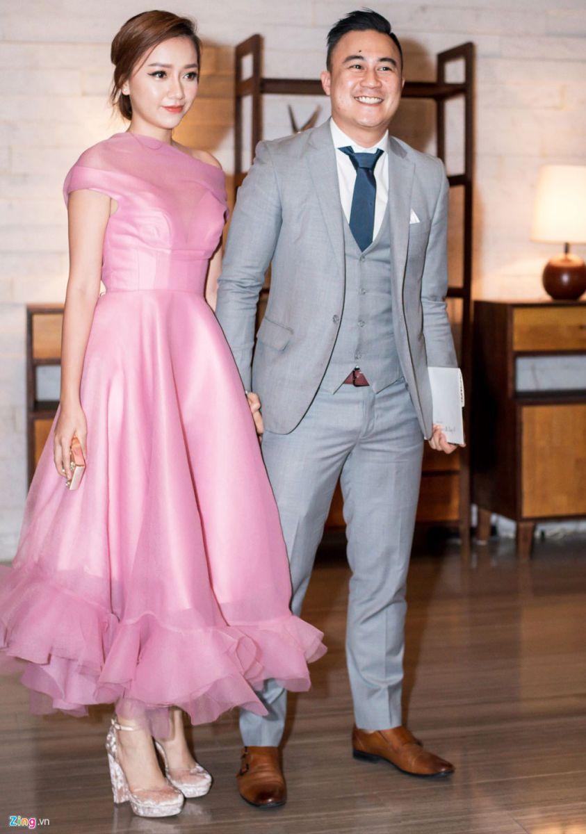 Ca sĩ Băng Di và bạn trai trong đám cưới của Đặng Thu Thảo