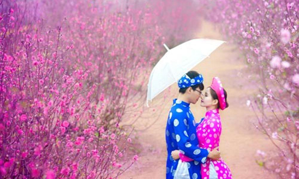 Chụp ảnh cưới mùa nào đẹp nhất - Mùa Xuân