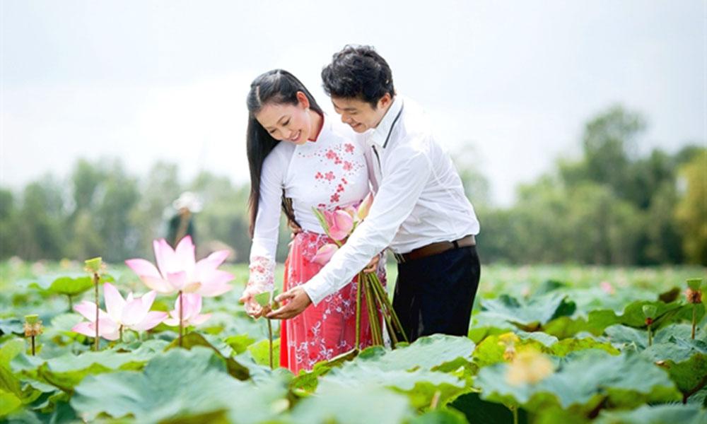 Địa điểm chụp ảnh cưới đẹp ở Đồng Tháp - Đồng Sen Tháp Mười