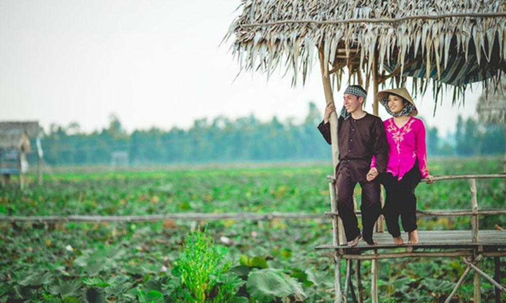 Địa điểm chụp ảnh cưới đẹp ở Miền Tây - Đồng Sen (Đồng Tháp)