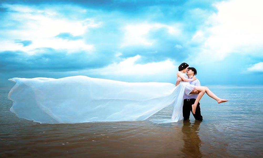 Địa điểm chụp ảnh cưới đẹp ở Cần Thơ - Bờ kè sông hậu
