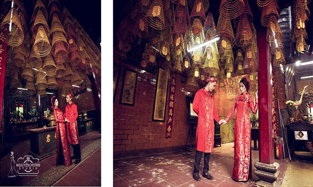 Địa điểm chụp ảnh cưới đẹp ở Cần Thơ - Chùa ông
