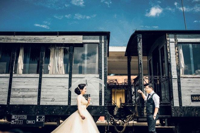 Địa điểm chụp ảnh cưới đẹp ở Đà Lạt - Ga xe lửa Đông Phương