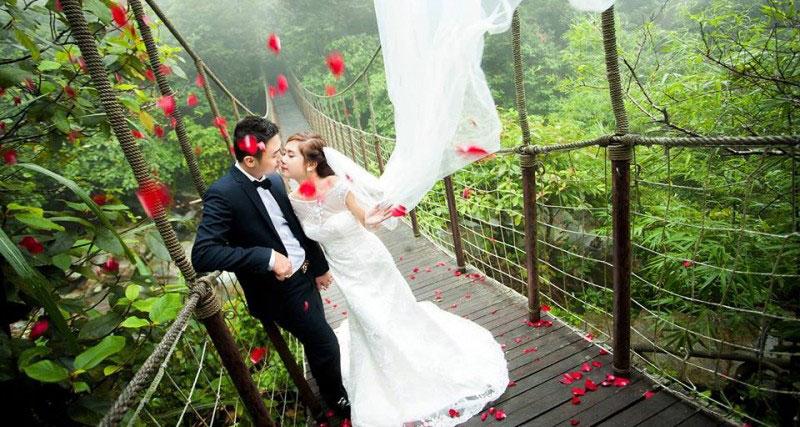 Địa điểm chụp ảnh cưới đẹp ở Tam Đảo - Thác Bạc