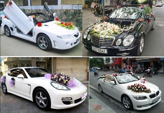 Dịch vụ cưới hỏi trọn gói - Thuê xe hoa và trang trí xe
