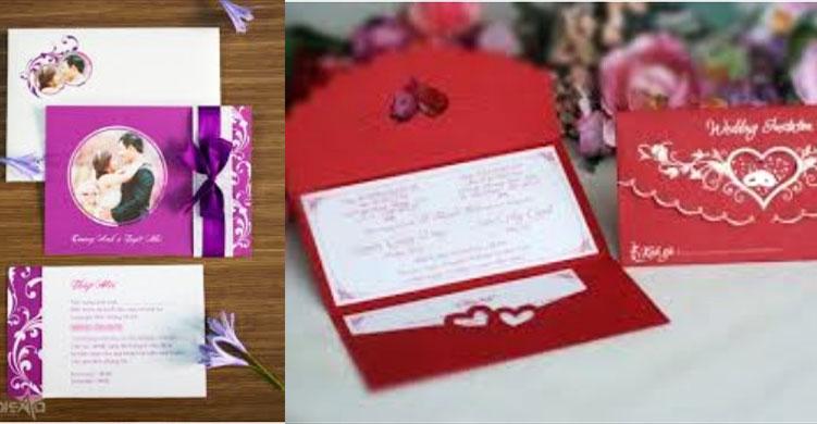 Dịch vụ cưới hỏi trọn gói - Thiệp cưới