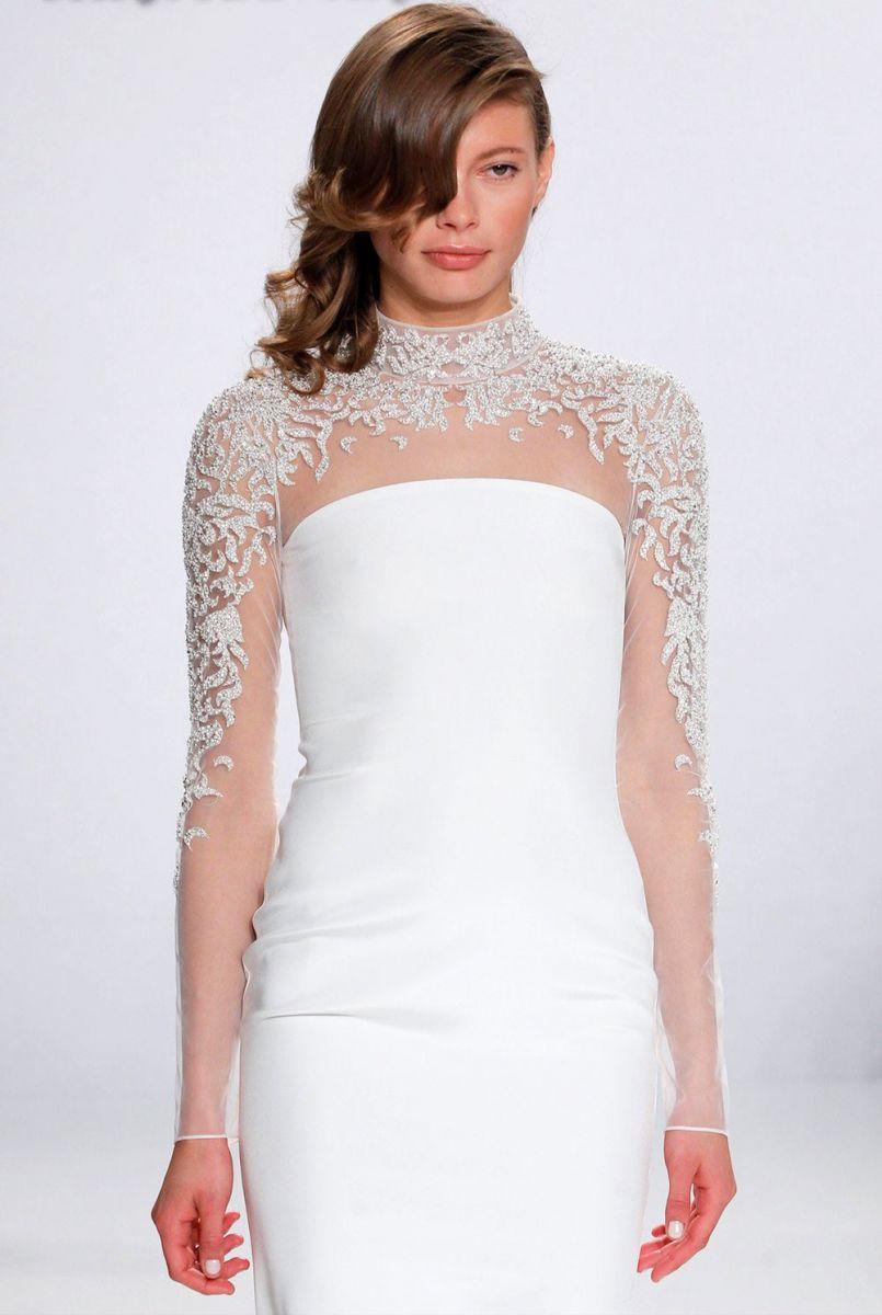Mẫu áo cưới hot trend 2017 - áo cưới cổ cao