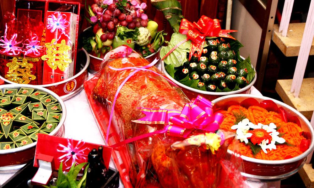 Nghi thức cưới hỏi ở Việt Nam - Mâm lễ vật