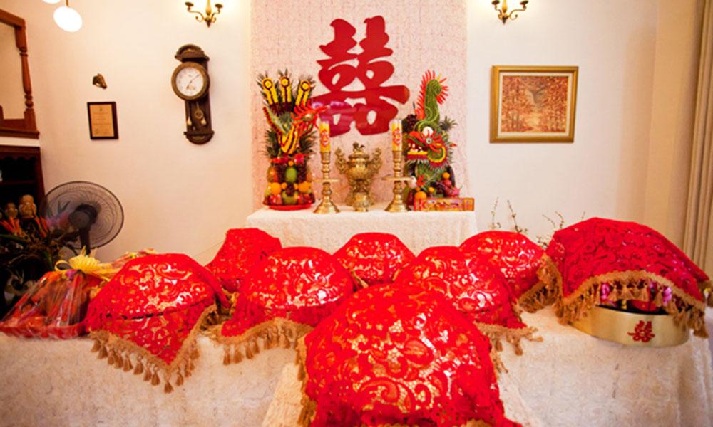 Nghi thức cưới hỏi ở Việt Nam - Trang trí lễ gia tiên