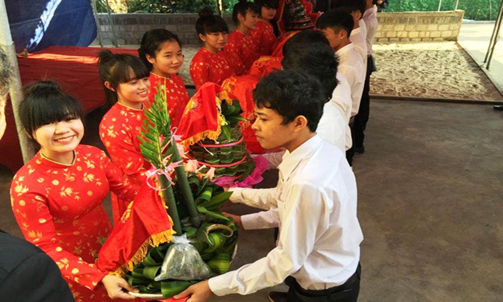 Nghi thức cưới hỏi ở Việt Nam - Trao lễ vật đám hỏi