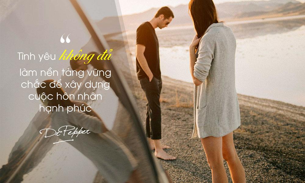 Tình yêu không đủ để mang lại hôn nhân hạnh phúc