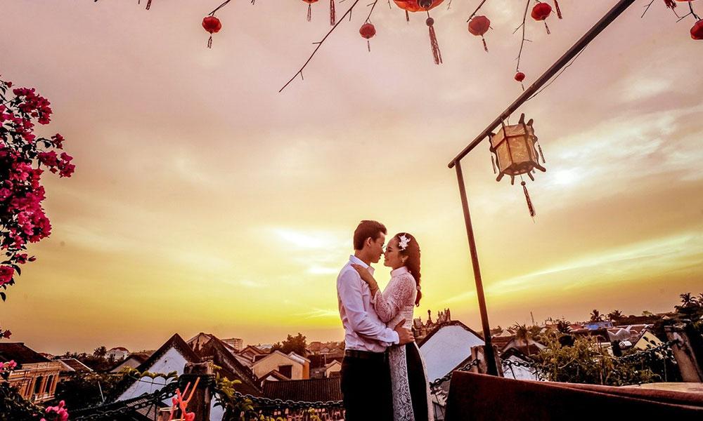 trang phục chụp ảnh cưới dã ngoại - Áo dài