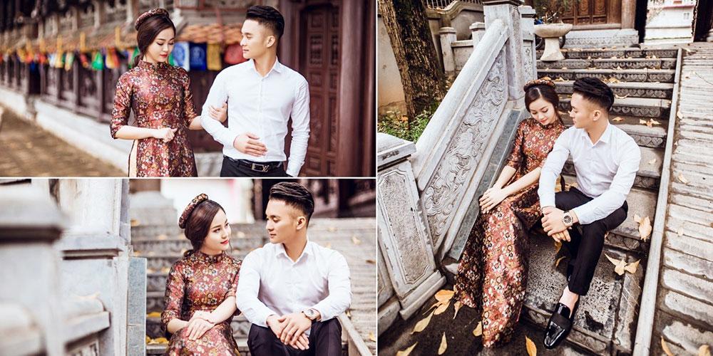 trang phục chụp ảnh cưới dã ngoại - Áo dài đẹp