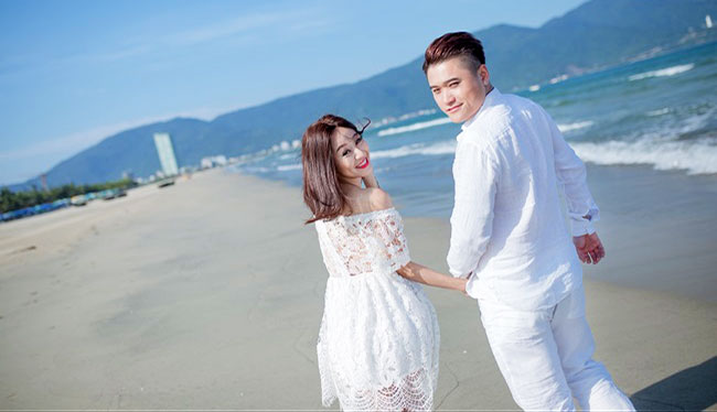 trang phục chụp ảnh cưới dã ngoại - Chụp ảnh cưới ở biển