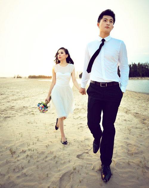 trang phục chụp ảnh cưới dã ngoại - Trang phục đồng điệu giữa chú rể và cô dâu