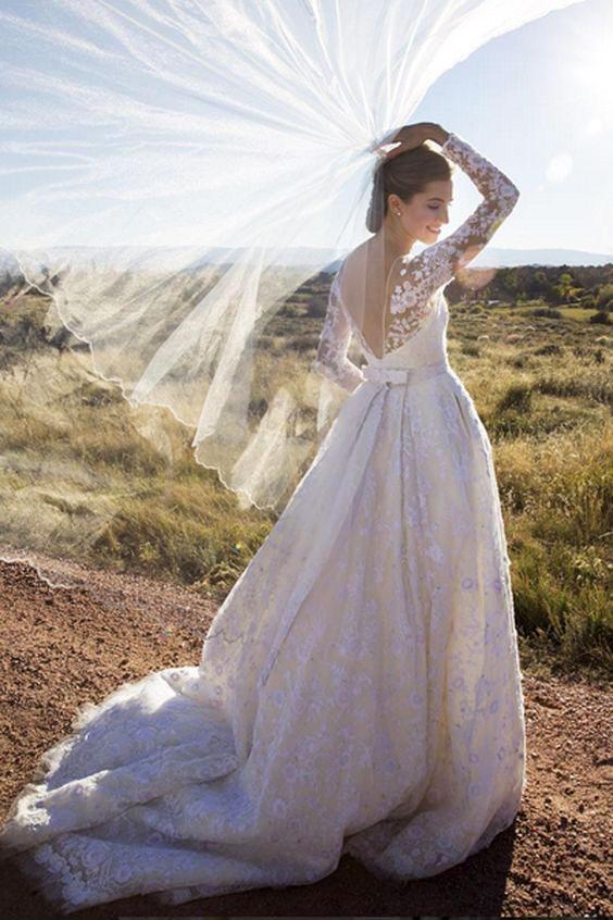 Váy cưới đẹp nhất mọi thời đại - Váy cưới của Allison Williams